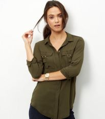 Khaki Shirt - New Look