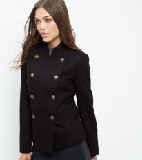 Double Breasted Military Jacket - New Look