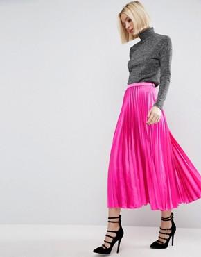 asos-midi-skirt-in-pleated-satin