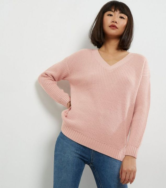 mid-pink-cross-strap-back-jumper-new-look